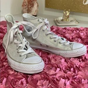 Silver Sneakers from Converse.